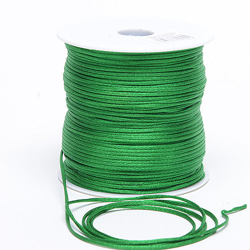 Emerald - 2mm Satin Rat Tail Cord - ( 2mm x 200 Yards )