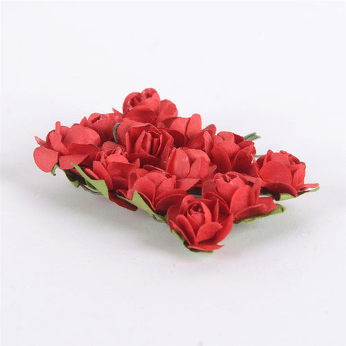 12 Paper Flowers Red Paper Rose Flowers (12x12)