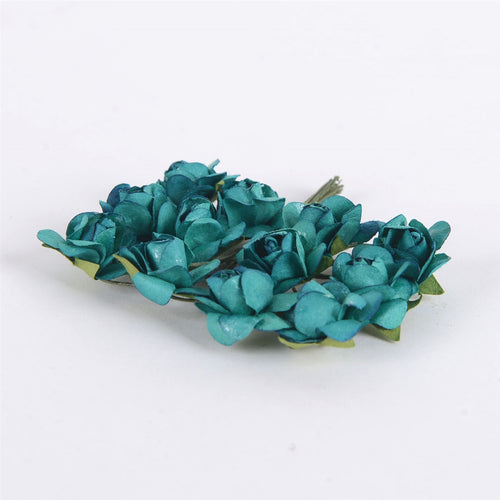 12 Paper Flowers Jade Paper Rose Flowers (12x12)