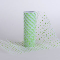 6 Inch Swiss Color Dot Tulle Rolls