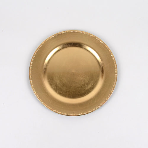 Gold - 13 Inch Round Charger Plates ( Pack of 6 )
