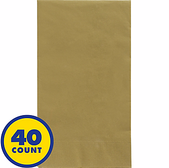 Gold Party Pack Guest Towels 40pcs