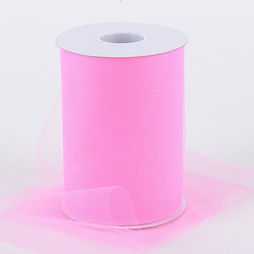 Hot Pink - Premium Quality Nylon Tulle 100 Yards ( W: 6 Inch | L: 100 Yards )