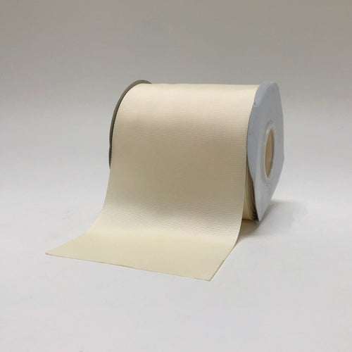 Ivory - Grosgrain Ribbon Solid Color - ( W: 4 Inch | L: 25 Yards )