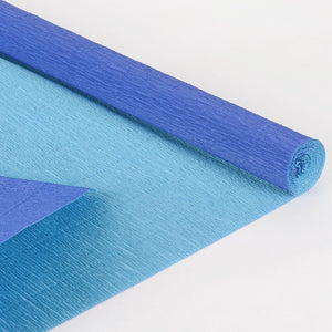 Double Sided Crepe Paper - Royal Blue w. Light Blue - 20 Inch