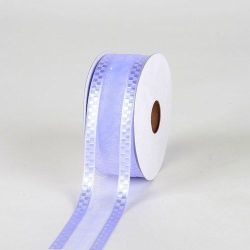 Iris - Organza Check Edge Ribbon - ( W: 1-1/2 Inch | L: 25 Yards )