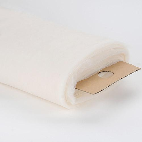 108 inch Ivory Premium Tulle Fabric Bolt
