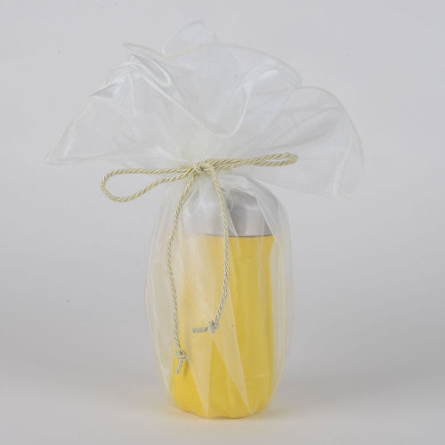Organza Wrapper with Cord - Ivory