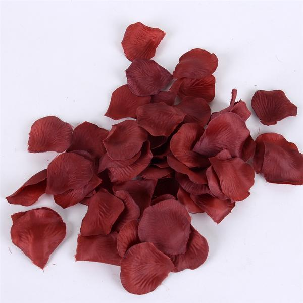 400 Petals Wine Silk Flower Petal