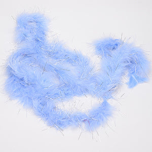 Smoke Blue Irridescent - Mini Feather Decorations - ( 2 Yards Boa )