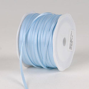 Light Blue - Satin Ribbon Single Face - ( 1/8 inch | 300 Yards )