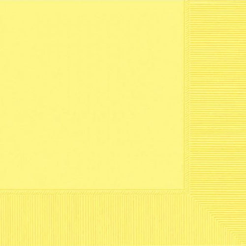 Light Yellow luncheon paper napkins 50pcs