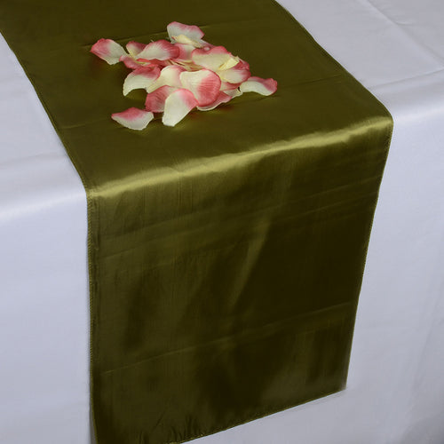 12 inch x 108 inches Spring Moss Satin Table Runner