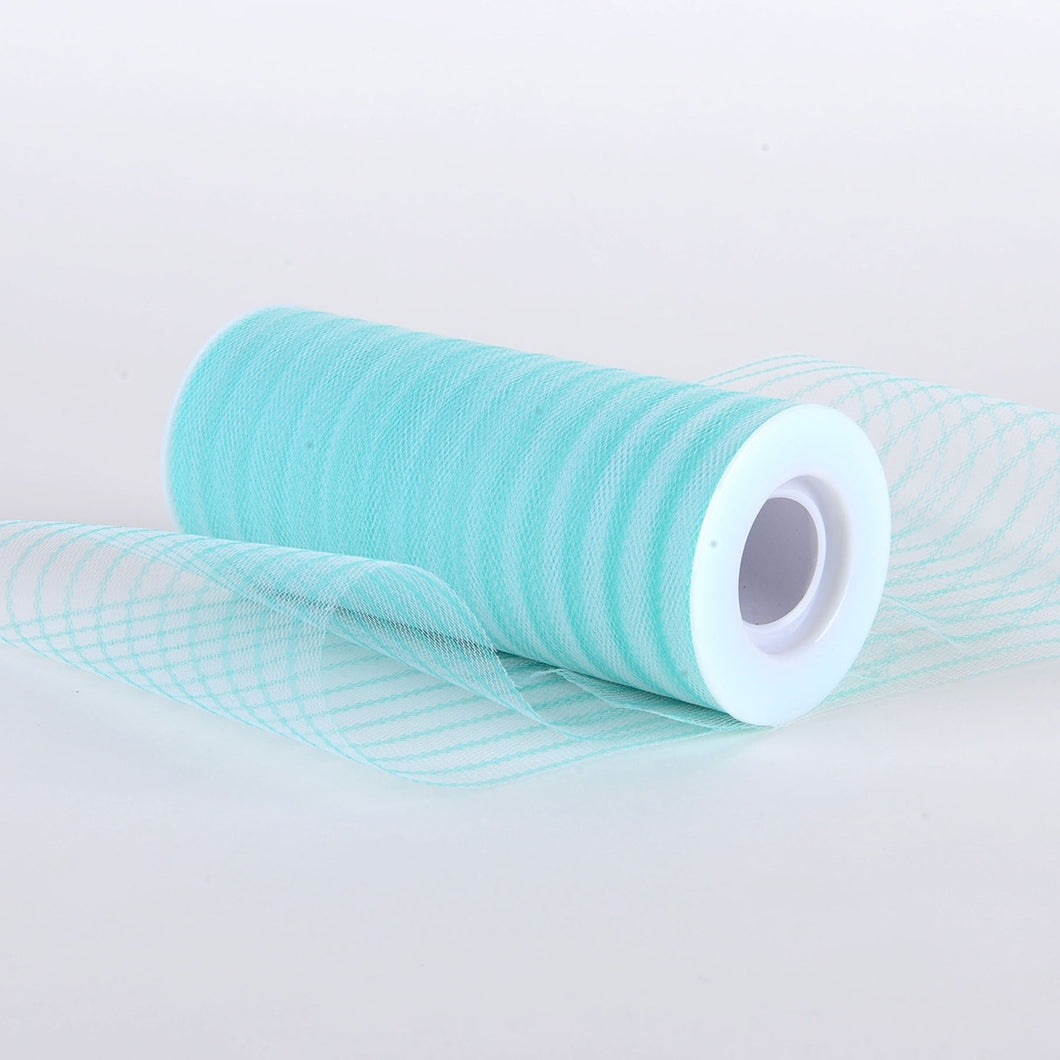6 Inch Multi Striped Tulle -  Jade
