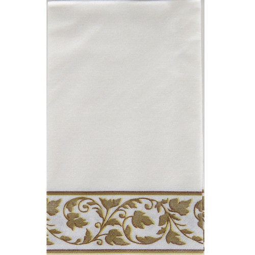 White With Gold Border Party Pack Buffet Napkins 24pcs