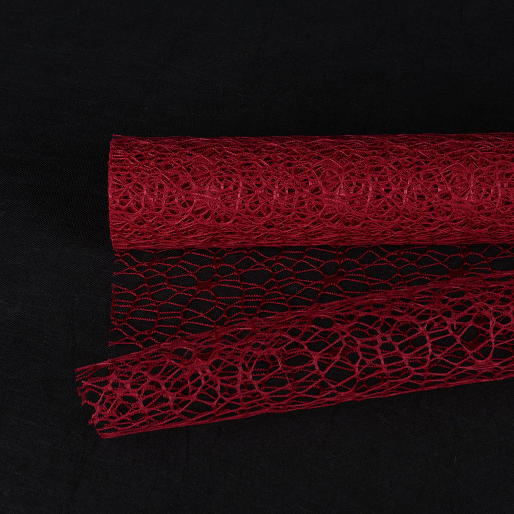 Burgundy  - Mesh Wrap -  ( 21 Inch x 6 Yards )