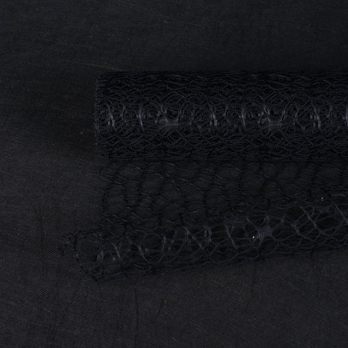 Black  - Mesh Wrap -  ( 21 Inch x 6 Yards )