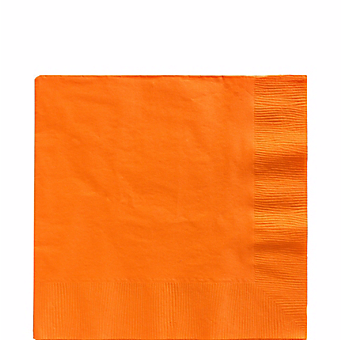 Orange luncheon paper napkins 50pcs