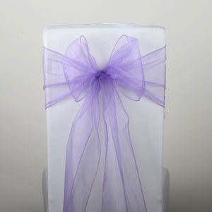 Orchid - Organza Chair Sash - ( Pack of 10 Piece - 8 inches x 108 inches )