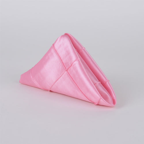 Pink - 17 x 17 inch Pintuck Satin Table Napkins ( 5 Pieces )