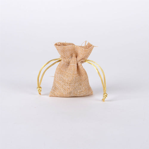 Natural Faux Burlap Bags