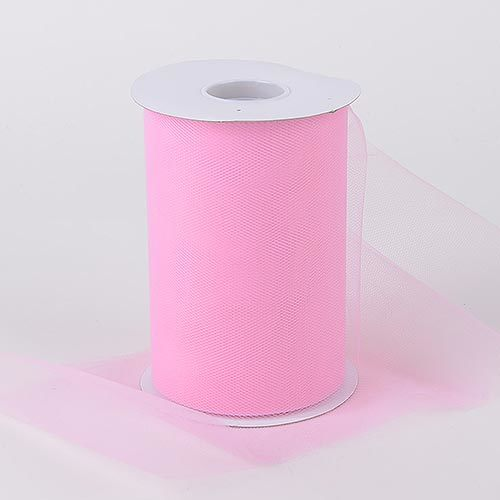 Pink - Premium Quality Nylon Tulle 100 Yards ( W: 6 Inch | L: 100 Yards )