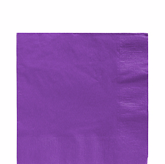 Purple luncheon paper napkins 50pcs