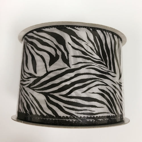 Zebra Print Ribbon ( 2-1/2 Inch x 10 Yards ) - Q1944001