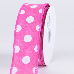 Spring Color Dots Ribbon Fuchisa ( 1-1/2 Inch x 10 Yards ) - Q41440928