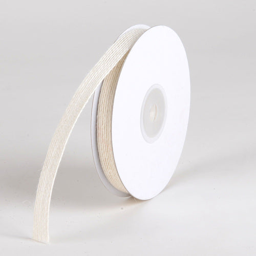 Ivory Burlap Ribbon - ( W: 3/8 Inch | L: 10 Yards ) - Q44080118