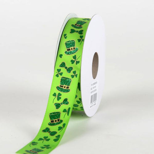 Satin St. Patrick's Day Leprechaun Hats Ribbon (7/8 Inch x 10 Yards )