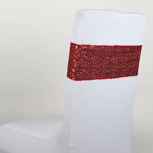 Sequin Chair Sash - Red  5 pieces