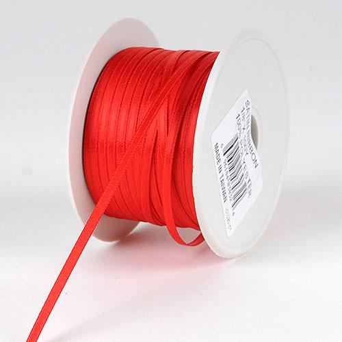 Red - Satin Ribbon Single Face - ( 1/8 inch | 300 Yards )