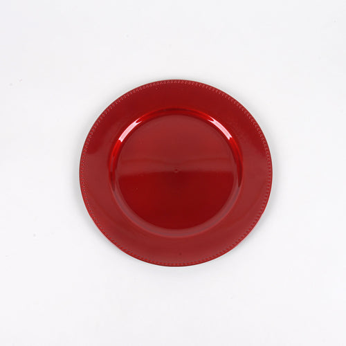Red - 13 Inch Round Charger Plates ( Pack of 6 )