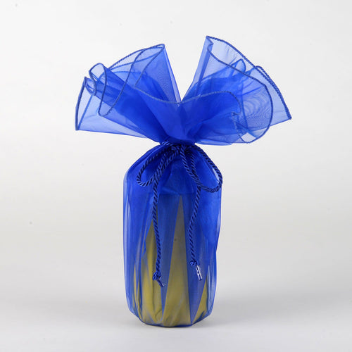 Organza Wrapper with Cord - Royal Blue