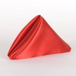 "20 Inch x 20 Inch Red 20"" x 20"" Satin Napkins"