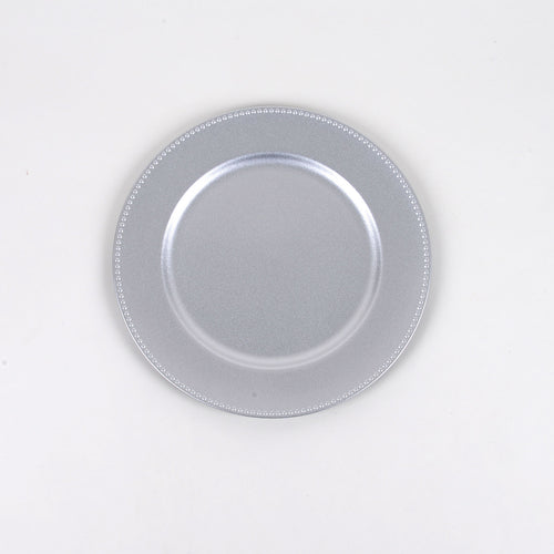 13'' Silver Round Charger Plates - Pack of 6