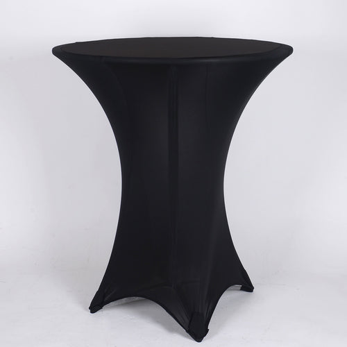 Black Spandex Cocktail Tablecloths
