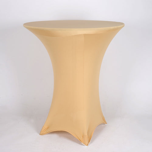Champagne Spandex Cocktail Tablecloths