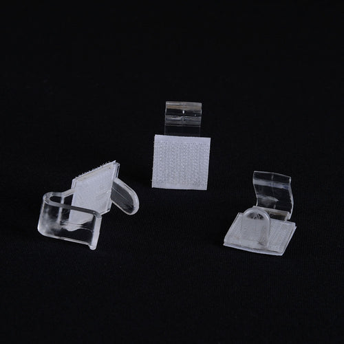 1 Dozen LARGE Plastic Table Skirt Clips - Clear 1 Inch
