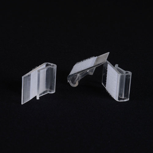 1 Dozen LARGE Plastic Table Skirt Clips - Clear 0.2 Inch