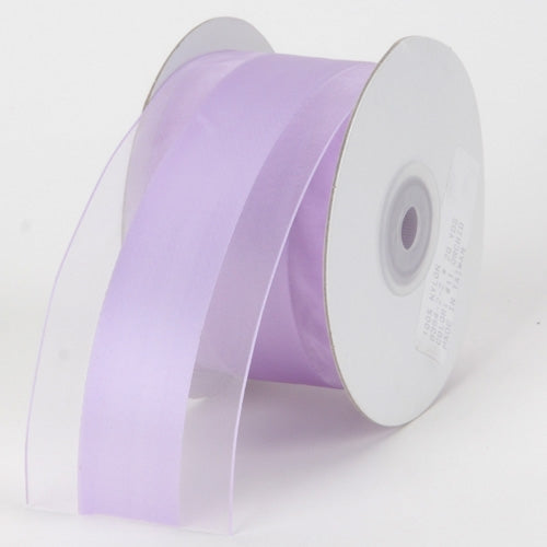 1.5 inch Lavender Organza Ribbon Satin Center