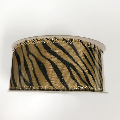 Zebra Print Ribbon  ( 1-1/2 Inch x 10 Yards ) - X11670914