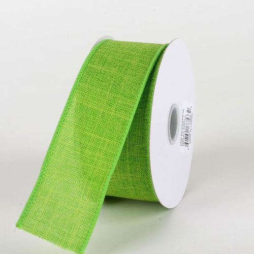 Lime  - Canvas Ribbon - ( W: 1-1/2 inch | L: 10 Yards )