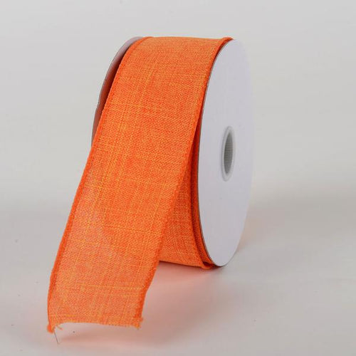 Bright Orange  - Canvas Ribbon - ( W: 1-1/2 inch | L: 10 Yards )