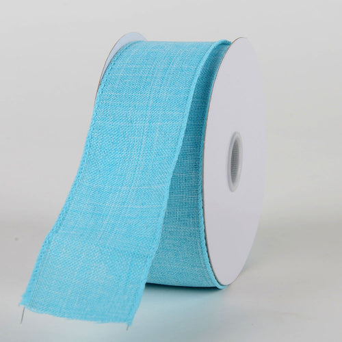 Aqua Blue - Canvas Ribbon - ( W: 1-1/2 inch | L: 10 Yards )