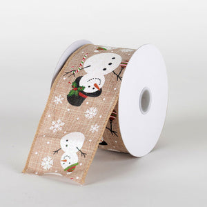 Black Hat Glitter Snowman Ribbon - (2.5''x10yds) - X81814015