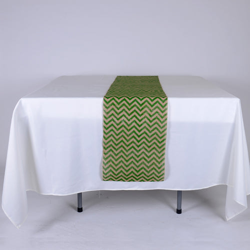 14 inch Green Burlap Table Runners