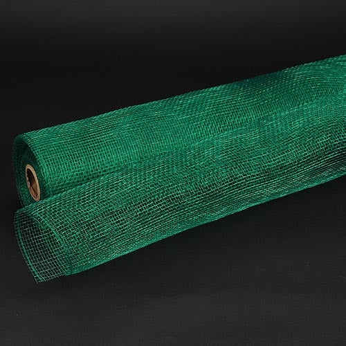 21 Inch x 10 Yards Hunter Green Floral Mesh Wrap Solid Color