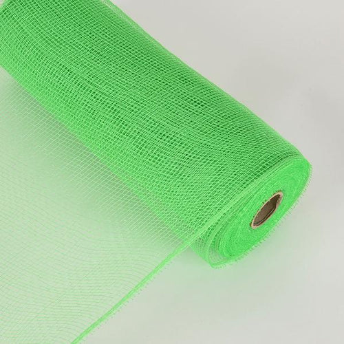 10 Inch x 10 Yards Emerald Floral Mesh Wrap Solid Color